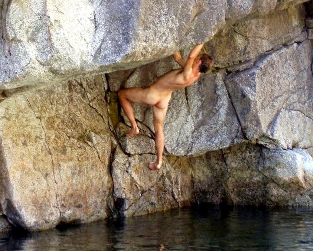 naked bouldering