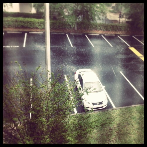The rain even makes my car lonely. Lol.
