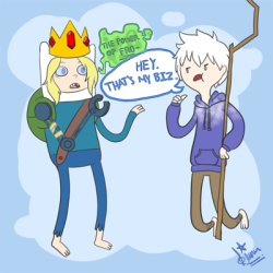 Jack Frost and Finn the Human (parallel universe Finn).