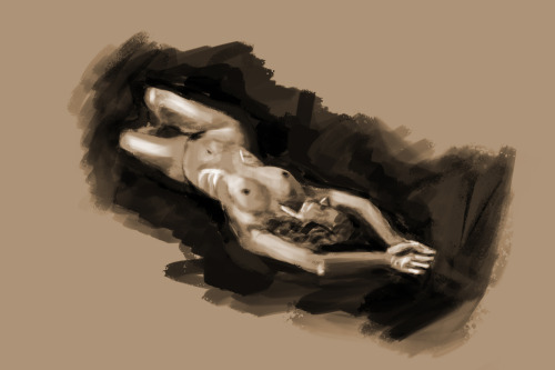 Photoshop, 40 minutes, with reference.