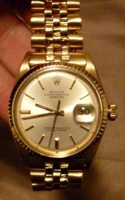 Gift to me. Vintage SOLID gold Rolex. #Floored