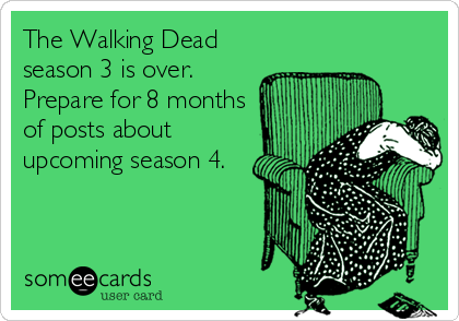 The Walking Dead Season 4 Ecard