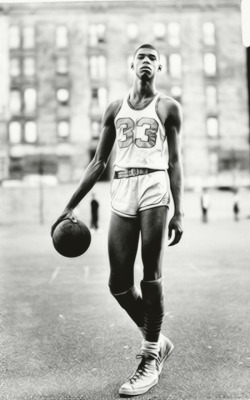 "micropolisnyc:  Kareem Abdul-Jabbar is the NBA's all-time leading scorer, with 38,387 points. He's now 65. But once upon a time he was just another black kid growing up in Manhattan.  In New York magazine's great ""Childhood in New York"" issue, he talks about moving from Harlem to Inwood and being among the first black people in the neighborhood. His mom was harassed at the supermarket because the manager insisted she was shoplifting, and there was a constant fear he'd get beaten up en route to school by the Irish kids. ""I remember I saw a man get out of a Rolls-Royce—the man was Caucasian, and his driver was black. I said to the driver, ""I'm gonna have a car like that one day."""