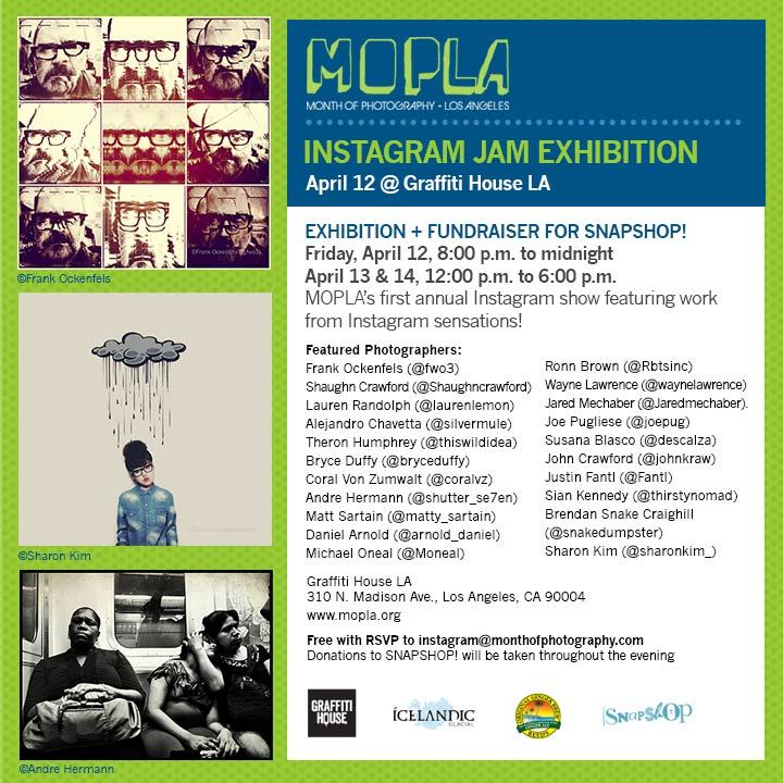 Join me tonight for MOPLA's first Instagram show! More info & RSVP on the Facebook event page.