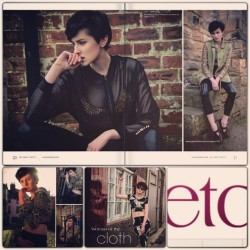 Tear sheets from ETC printed magazine