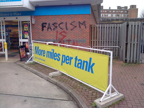 fascism is more miles per tank