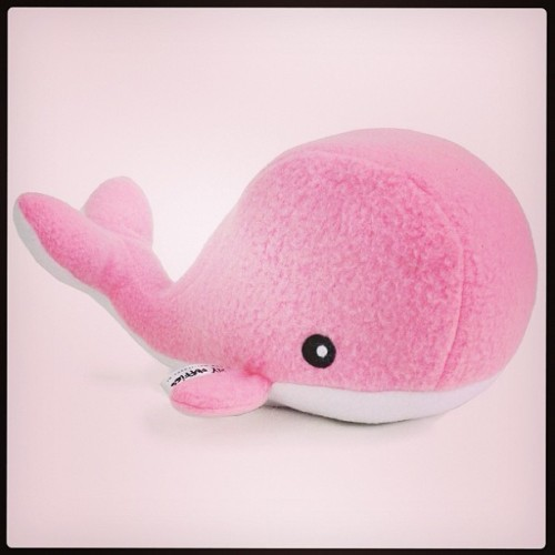 Hug this whale! http://www.shanalogic.com/huggable-whale-light-pink.html #handmade #cute