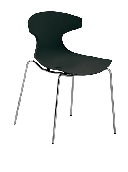 Domitalia Echo Chair, Black  Echo is Domitalia's best-selling design, suitable for indoor and outdoor use, stackable Material type: Steel, Polypropylene Country of origin: Italy Authentic product Price: $139