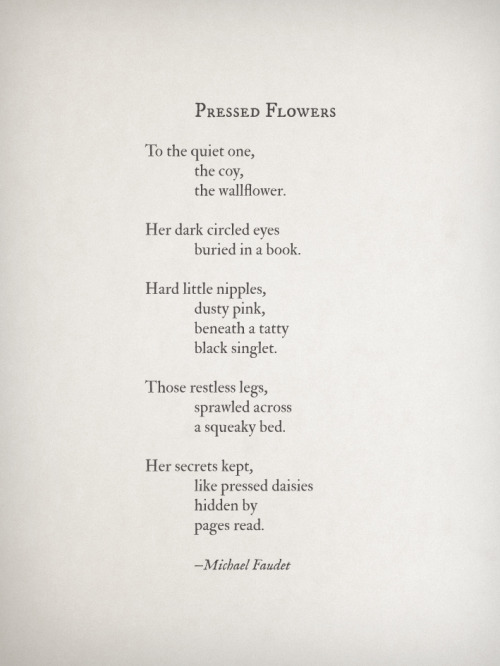 michaelfaudet:  Pressed Flowers by Michael Faudet   I know who he speaks of. #love