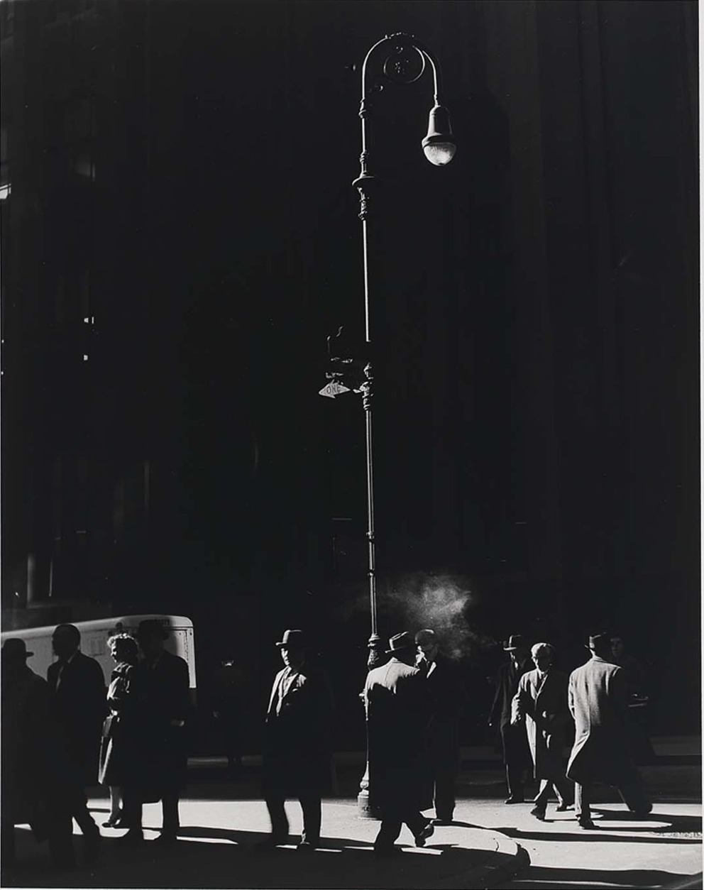 undr:  Todd Webb Broadway at Wall Street, New York, 1959