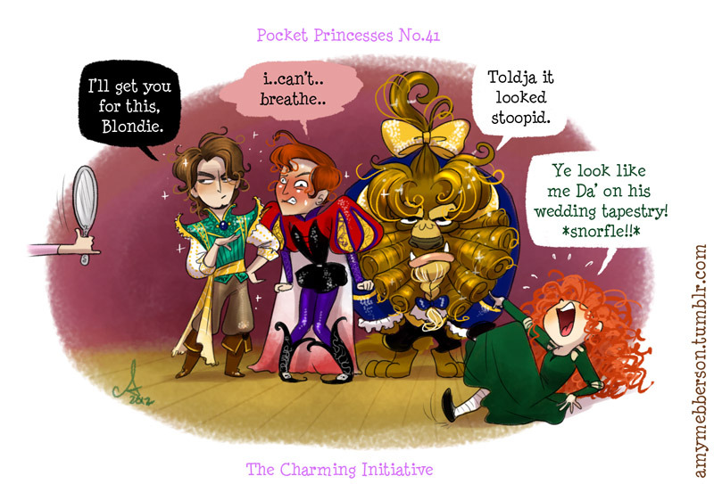Pocket Princesses 41: The Charming Initiative If you are not familiar with The Hawkeye Initiative, just enjoy seeing some Disney boys stripped of their dignity and you'll pretty much get it ;)