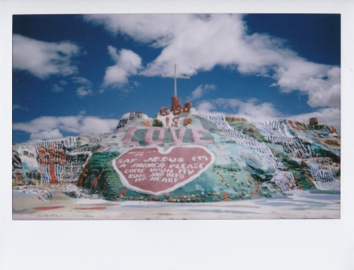 eighty5keys:  Salvation Mountain (Shot with Fuji Instax)  currently wishing vacation lasted forever and EVERRR
