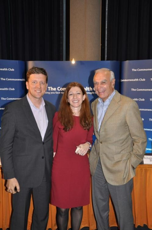 2012, at the Commonwealth Club of California with legendary VC and former UNDP Administrator Bill Draper and Natalia Pipia Associate Program Director at CRDF Global. Inspiring for us to meet Bill who has been so instrumental to both the private and international development sectors.