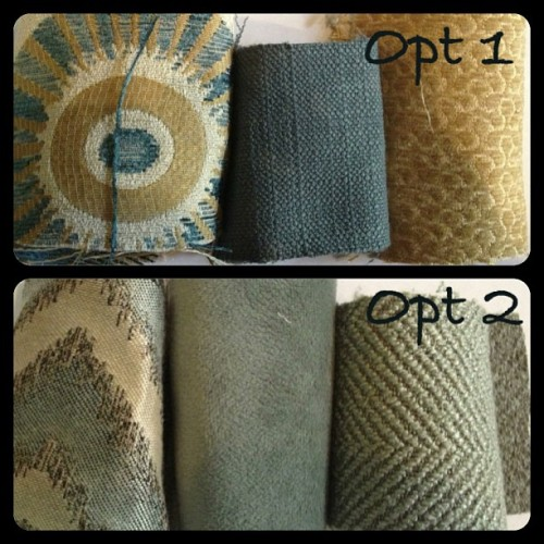 Which #bedding option do you like more!? #interiordesign #austin #fabric