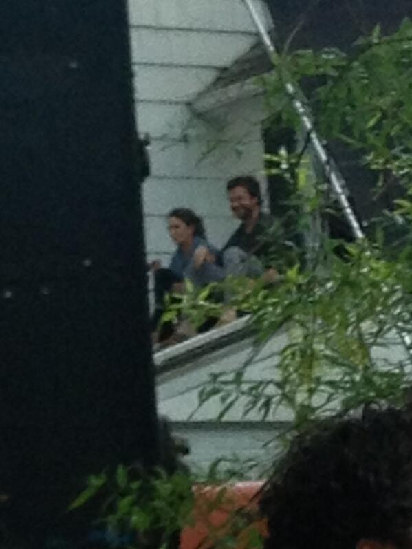 Tina Fey & Jason Bateman spotted filming 'This Is Where I Leave You' (x)