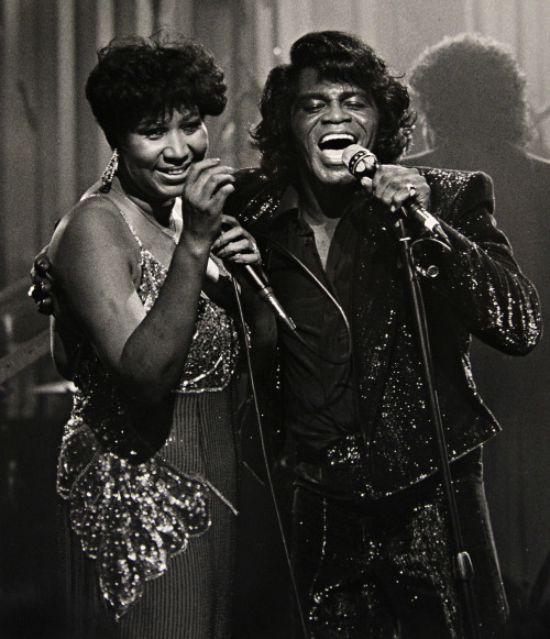 musicbabes:  Aretha Franklin & James Brown par Rob Kozloff.