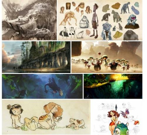 Some lovely concept work from Dreamwork's The Croods.