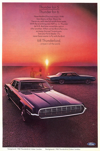 1968 Ford Thunderbird Landau Advertising - National Geographic February 1968 by SenseiAlan on Flickr.1968 Ford Thunderbird Landau Advertising - National Geographic February 1968
