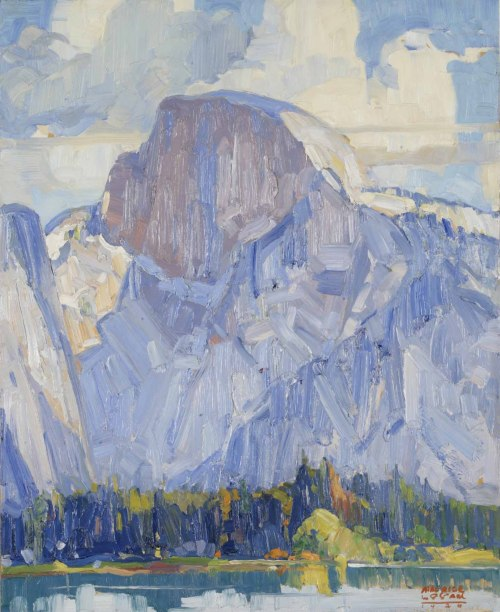 blastedheath:  Maurice Logan (American, 1886-1977), Half Dome Yosemite, 1926. Oil on artist board, 23 1/2 x 18 1/2 in.