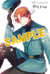 Animate has released a preview image of a special illustration card that comes with Hetalia: Axis Powers Speciale 1 when ordered through the Animate online shop. As previously announced, Speciale 1 is an omnibus volume that collects the contents of Volumes 1 and 2 of the published Hetalia manga. It is slated to be released on August 23, 2014.
