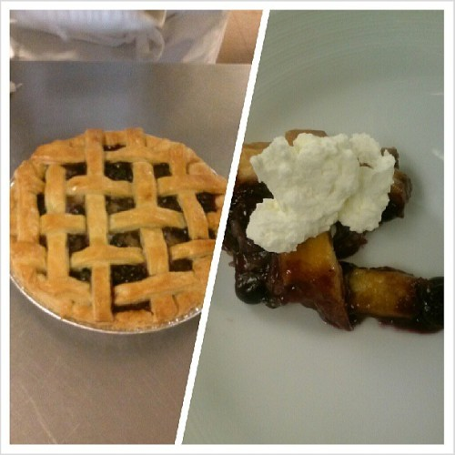 #blueberry #pie with some fresh #whippedcream #Food #lattc #baking  (at Los Angeles Trade-Technical College (LATTC))