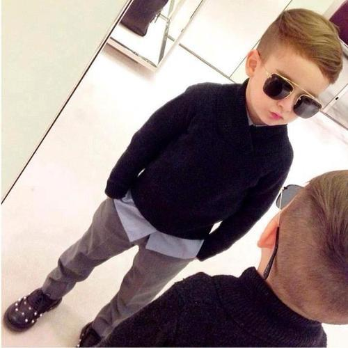 kimpoyfeliciano:  What my future kid's going to look like! Not swag but class! ;)