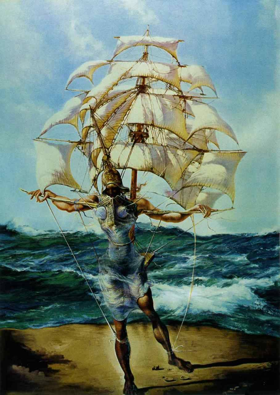 The Ship  by Salvador Dalí