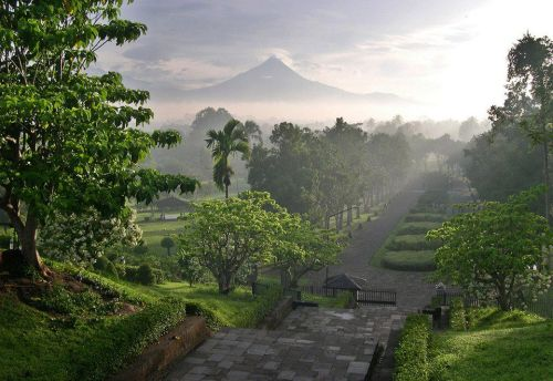 Borobudur Temple Park, Indonesia