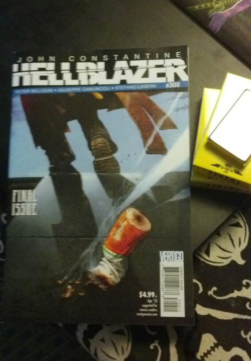 Last issue of Hellblazer… sad day for comics