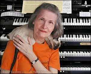 missingdinosaur:  Who's this woman with the keyboards? Well, it's Wendy Carlos. Who's that? Hell, I'm upset you don't already know. Wendy Carlos is a transgender woman who helped shape both electronic and classical music as we know it. As a six year old, she started piano lessons, at 10, she composed a trio, and at 14, she built a computer. This was in 1953, long before computers were a household item. She assisted Dr. Robert Moog to help him create the Moog synthesizer. In fact, it was Carlos who suggested touch sensitivity, adding greater dynamic range and overall musicality to the instrument. She rose to prominence in 1968 with her album Switched-On Bach, a collection of Bach pieces recreated on the Moog synthesizer. In 1969, she won three Grammy awards for her debut work. She caught the eye of Stanley Kubrick and was hired to score A Clockwork Orange (you know, one of those movies tumblr is obsessed with). She went on to write the soundtrack for Kubrick's other film, The Shining, as well as Disney's Tron. Carlos also created the first synthesized environmental album in 1972, influencing the ambient genre, and explored alternate tunings with her 1986 album, Beauty in the Beast, inventing new scales to go along with her pieces.