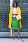Yellow coats green skirts grey sweatshirts @blackandkillingit