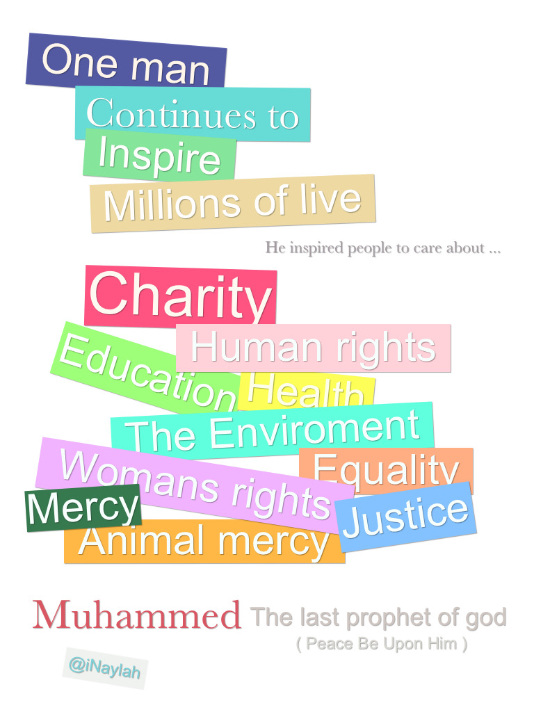Our prophet (PBUH) teach us these Ethics ♥.