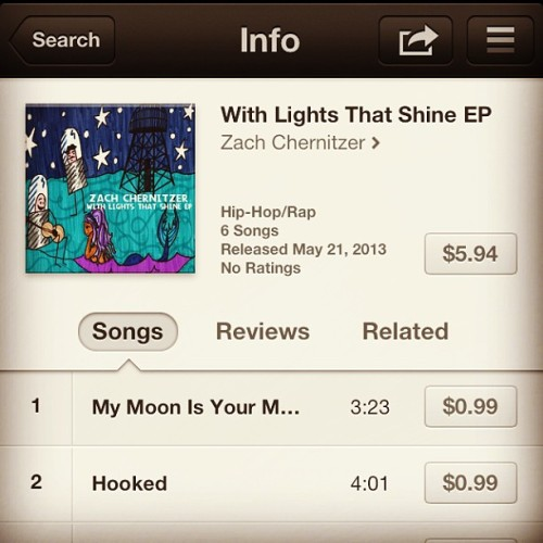 "My EP ""With Lights That Shine"" was released on iTunes today!  Listen and download at: https://itunes.apple.com/us/album/with-lights-that-shine-ep/id643012645"