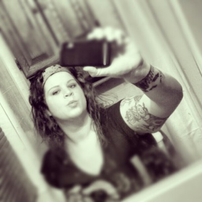 #blackandwhite #tattoos #tattoo #bandana #redhead #cute #mirror #photooftheday #girl #bbw #freckles #bats #halloween #spooky #goth #gothic #pale #tall (at this is hell…)