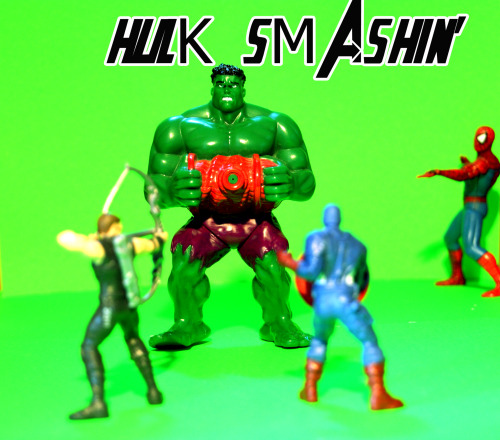 I made this photo with Sony alpha 330 and PS5 Credits: it belongs to me! Hulk, Spidey, Cap and Hawkeye