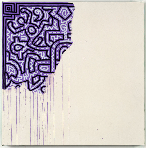 unfinished painting, keith haring, 1989