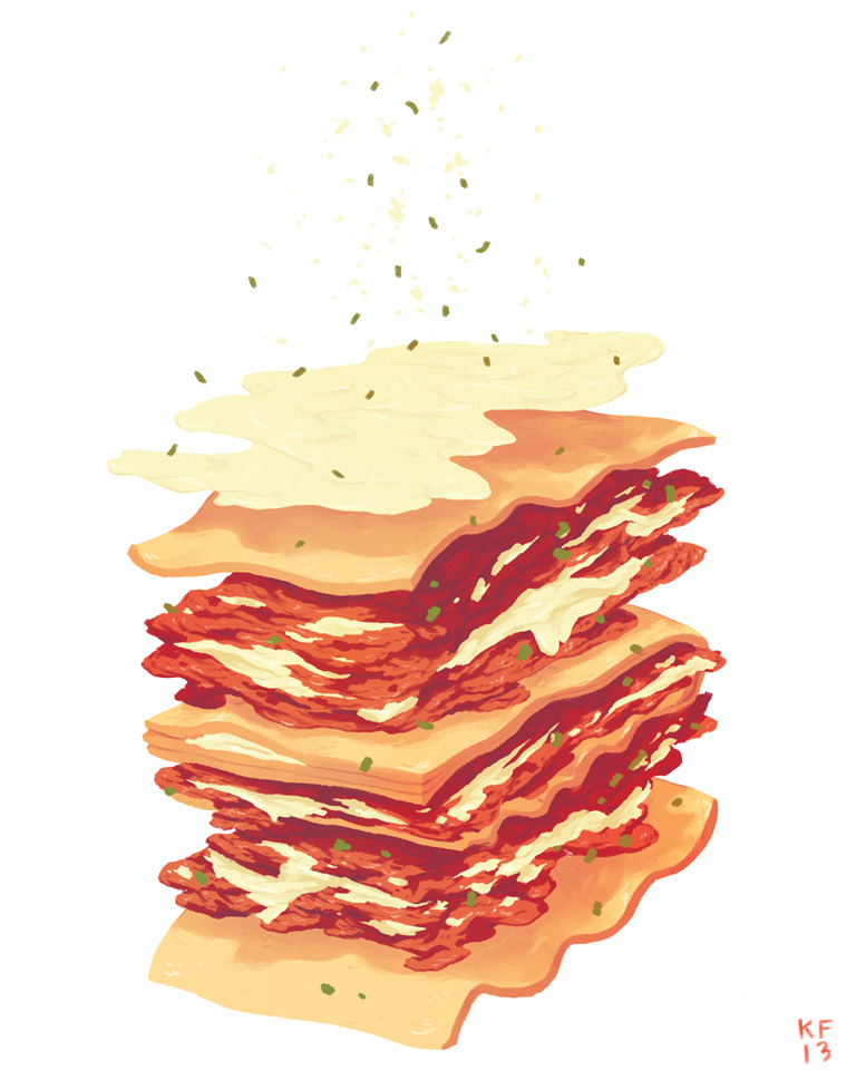 kylefewell:  Had to draw a lasagna for this infographics class I am taking.   :3