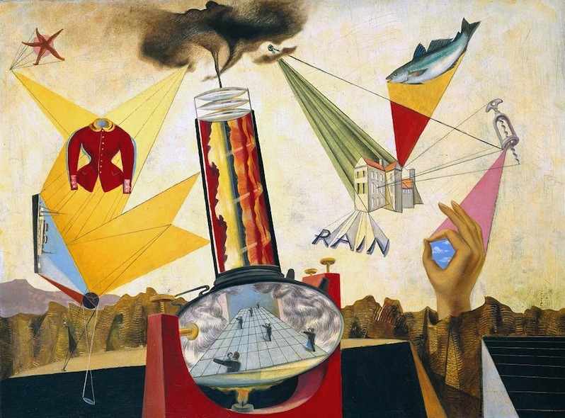 Le Grand Jour by Roland Penrose, 1938. Oil on canvas, 76.2 x 101 cm. The Tate Museum, London, England.