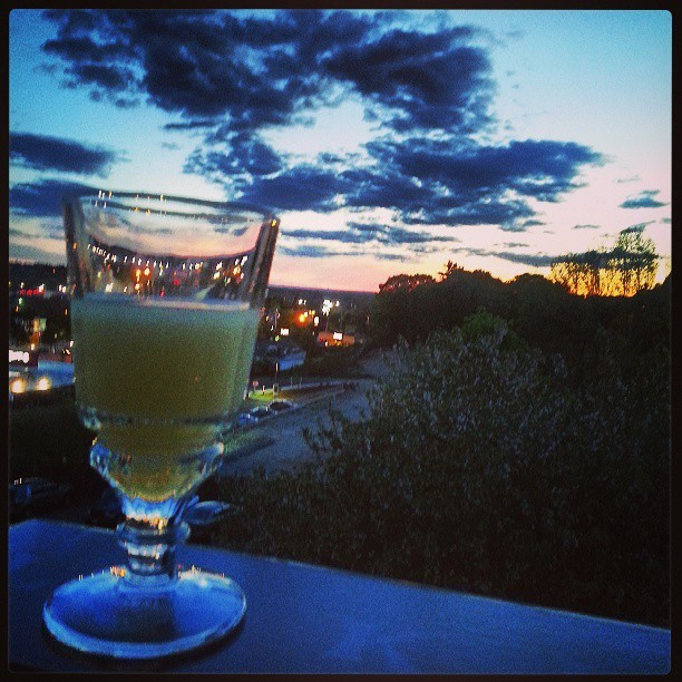 No more work for today… I've forgotten how to relax. #Absinthe #sunset #notenoughtimeintheday #mentalwellbeingisbeingunwell