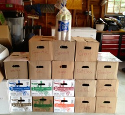 The current stash of Foxon Park and Maine Root for the upcoming Soda Social! And there's seven more brands on top of this! Only 5 days away!