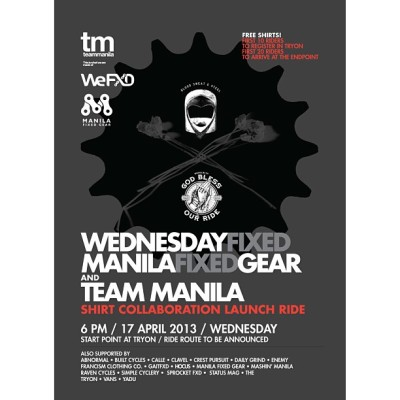 WeFXD x MFG x Team Manila Shirt Launch & Ride! @wefxd @teammanila #wefxd #mfg #teammanila #teammanilalifestyle #philippines #lifestyle #fixedgear #bike #shirt #clothing #manila #ride #fixed #gear #igersmanila