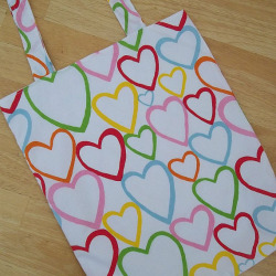 Multicoloured Hearts Print Tote Bag  http://www.etsy.com/listing/111701452/multicoloured-hearts-print-tote-bag?ref=cat_gallery_12