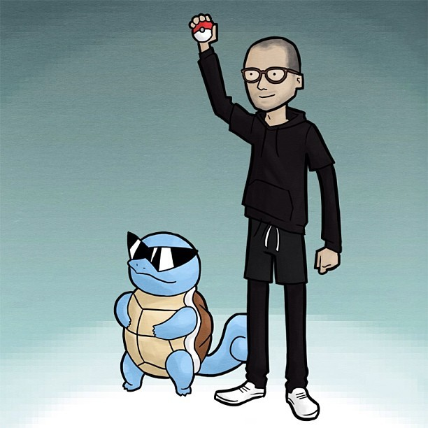 OMG it's me with squirtle #squirtlesquad
