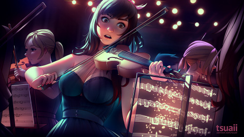 mea meakoenig original character orchestra violinist surreal digital art artists on tumblr jonathan hamilton tsuaii
