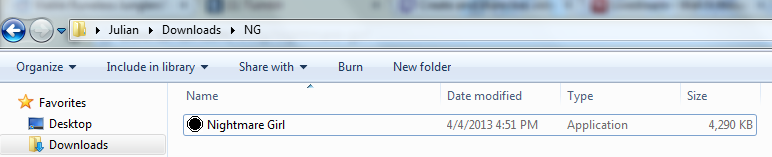 This is the file in the folder, after unzipping.