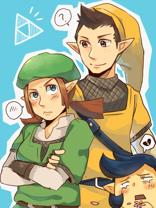 triforce-tan:  LoZ: Pipit and Karane by *seiryuuden