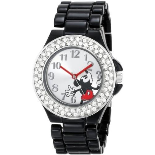 polyvore fashion jewelry watches bezel bracelet enamel bracelet enamel watches black bracelet mickey mouse jewelry