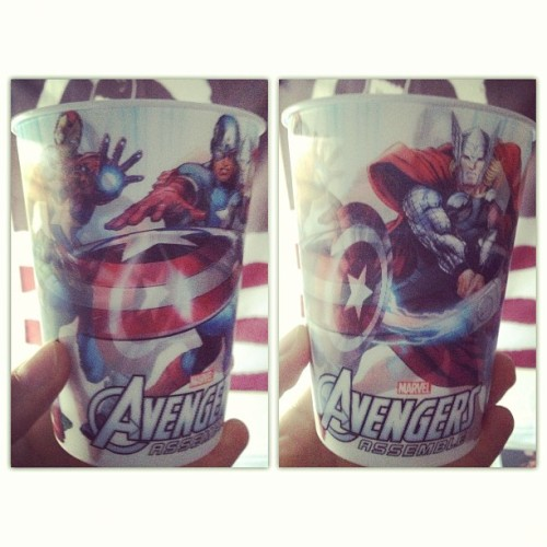 I bought this awesome #lenticular #avengers cup for a dollar. #nerd #marvel #mature #instagram #comics
