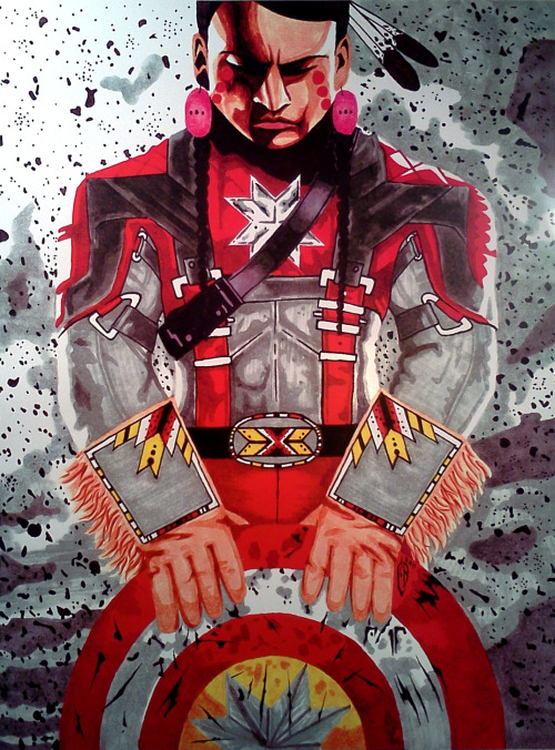 nd-ndn:  Captain Native America by Chad BrownEagle.