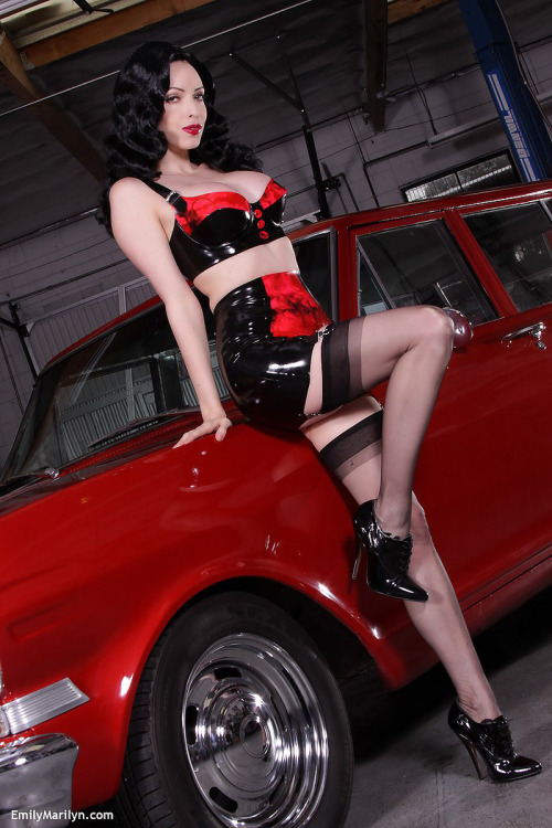 glamourimages:  Gorgeous latex fetish babe Emily Marilyn featured at Ultimate Fetishes today See the full gallery at www.ultimate-fetishes.com